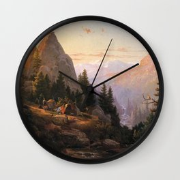 Sugar Loaf Peak El Dorado County 1865 By Thomas Hill | Reproduction Wall Clock