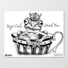 BECKETT Frog Prince Print Canvas Print