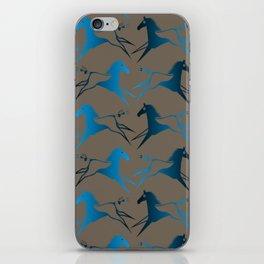 Blue Brown War Horse iPhone Skin