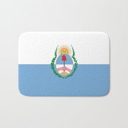 flag of mendoza Bath Mat