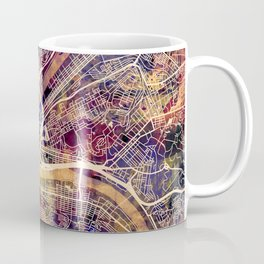 Pittsburgh Pennsylvania City Street Map Coffee Mug
