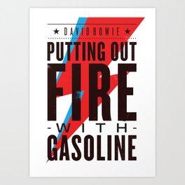 Gasoline Art Print