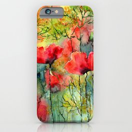 The Poppies Grow iPhone Case