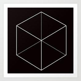D6, Black Art Print