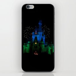 Castle + Fireworks = Happiness iPhone Skin