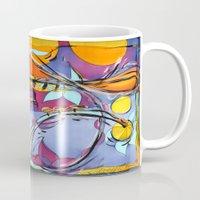 jazz Mugs featuring JAZZ by Diane Stevenett Fine Art