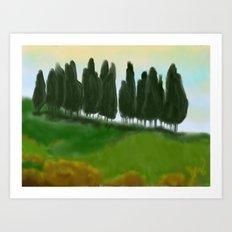 Tree Hill Art Print