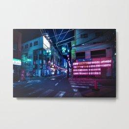 Nakameguro at night, Tokyo Metal Print
