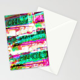 Oh Oh Neon Layer Pink Green Fluo Stationery Cards