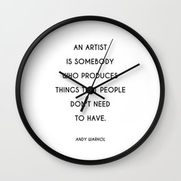 Raggedy Andy | Art Saying Quote Wall Clock