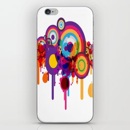 Color Paint Blobs iPhone Skin