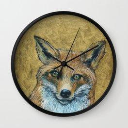 Sainted Fox Wall Clock