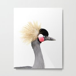 Crowned Crane Metal Print