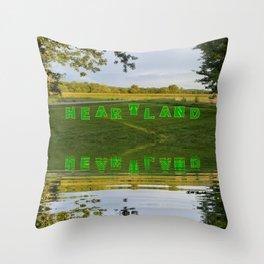 """""""Heartland V"""" Throw Pillow"""