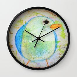 Sweet Little Bluebird Whimsical Rustic Chic Cottage decor Baby Bird Wall Clock