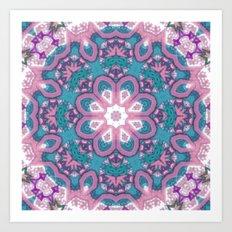 Flower Mandala in pastel Art Print