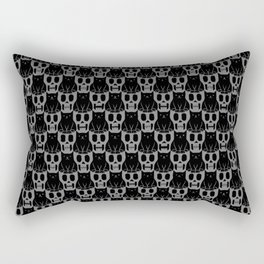 Skulls & Cats Dark Rectangular Pillow