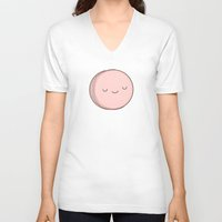 macaron V-neck T-shirts featuring Macaron by kim vervuurt