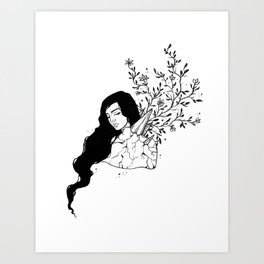 Crystal Growth Art Print