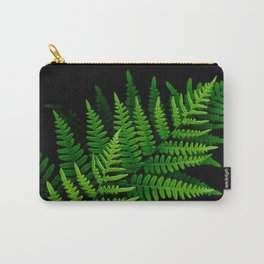 Fern Fronds on Black Carry-All Pouch