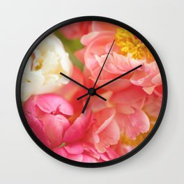 My Little Peonies Wall Clock