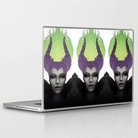 maleficent Laptop & iPad Skins featuring Maleficent by clayscence
