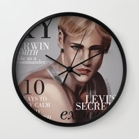 snk Wall Clocks featuring SnK Magazine: Erwin by emametlo