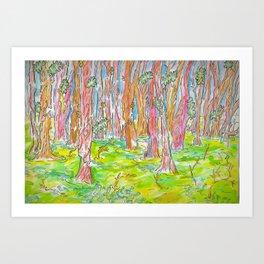 Wetlands in Watercolor Art Print