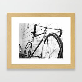 Fixie III black and white Framed Art Print