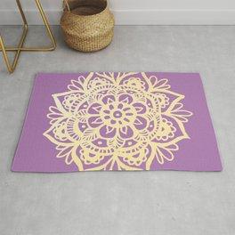 Purple and Gold Mandala Rug