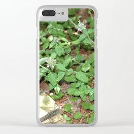 Little Purple Buds. Clear iPhone Case