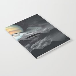 Saturn above mountains Notebook