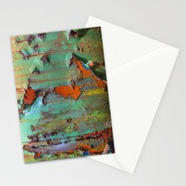 Flaking Paint on Rust Stationery Cards