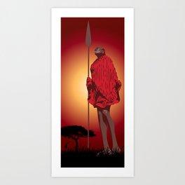 Masai & Africa Art Print