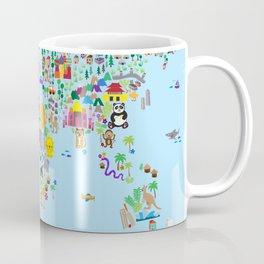 Animal Map of the World Coffee Mug