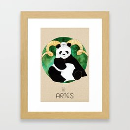 Panda Zodiac Aries Framed Art Print