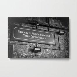 Old Borough Market Sign, London | Black & White | Street & Travel Photography | Fine Art Photo Print Metal Print