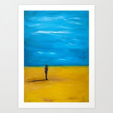 Nude in the desert Art Print
