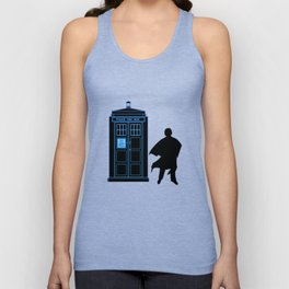 Tardis With The Third Doctor Unisex Tank Top