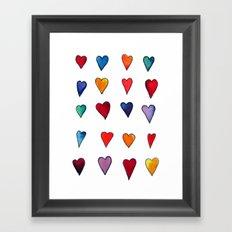 Multiple HEARTS Framed Art Print