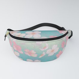 Ombre Dogwood Flowers Fanny Pack