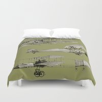 airplanes Duvet Covers featuring airplanes5 by Кaterina Кalinich