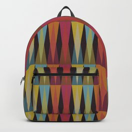 Party Argyle on Chocolate Brown Backpack
