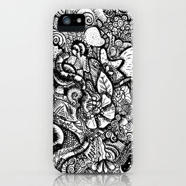 Abstract Doodle Art iPhone Case