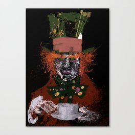 Hatter splatter Canvas Print
