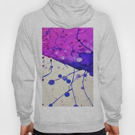 Purple and Blue Watercolor Abstract (Color) Hoody