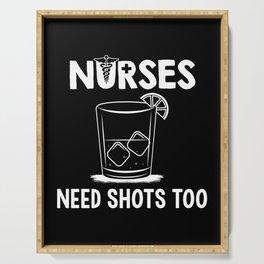 Nurses Need Shots Too For Paramedics Serving Tray