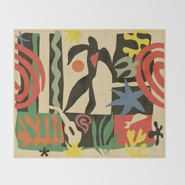 Inspired to Matisse (vintage) Throw Blanket
