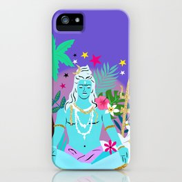 Lord Shiva meditates iPhone Case