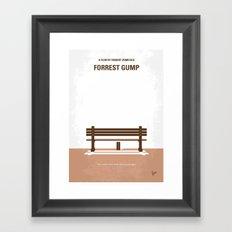 No193 My Forrest Gump minimal movie poster Framed Art Print